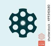 revolver cylinder icon.... | Shutterstock .eps vector #499340680