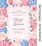 vintage wedding invitation | Shutterstock .eps vector #499341148