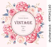 vintage wedding invitation | Shutterstock .eps vector #499341160