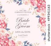 vintage wedding invitation | Shutterstock .eps vector #499341163