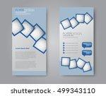 vector flyer and leaflet design.... | Shutterstock .eps vector #499343110