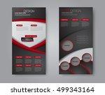 vector flyer and leaflet design.... | Shutterstock .eps vector #499343164