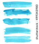set of watercolor backgrounds.... | Shutterstock . vector #499343980