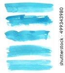 set of watercolor backgrounds.... | Shutterstock . vector #499343980