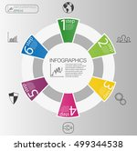 business circle info graphic... | Shutterstock .eps vector #499344538