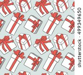 gift boxes seamless pattern | Shutterstock .eps vector #499349650