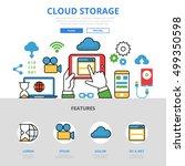 linear flat cloud storage...