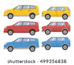 vector set of flat various city ... | Shutterstock .eps vector #499356838