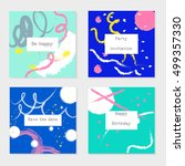 set of universal cards and... | Shutterstock .eps vector #499357330