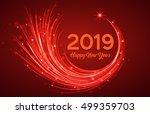 happy new year 2019  vector... | Shutterstock .eps vector #499359703