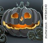 cartoon vector halloween... | Shutterstock .eps vector #499364140