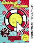 color vintage online casino... | Shutterstock .eps vector #499374034
