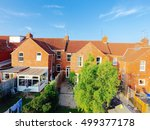 aerial view of terraced british ... | Shutterstock . vector #499377178