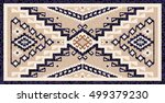 colorful mosaic navajo rug with ... | Shutterstock .eps vector #499379230