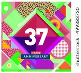 37th years greeting card... | Shutterstock .eps vector #499383730