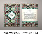 flyer template with abstract... | Shutterstock .eps vector #499384843