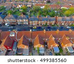 aerial view of garden and roof... | Shutterstock . vector #499385560