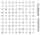 icons set. 100 thin line... | Shutterstock .eps vector #499388719