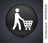 male shopper on black round... | Shutterstock .eps vector #499400320