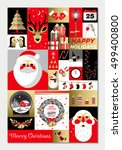 set of flat christmas icons.... | Shutterstock .eps vector #499400800