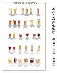 beer glass guide. beer glasses... | Shutterstock .eps vector #499403758