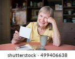single mature adult female with ...   Shutterstock . vector #499406638