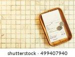 thai restaurant bill payment... | Shutterstock . vector #499407940