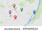 city map with some location... | Shutterstock .eps vector #499409023