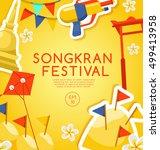 songkran festival   thai water... | Shutterstock .eps vector #499413958