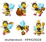 vector illustration of  bees... | Shutterstock .eps vector #499425028