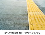 tactile paving for blind person.... | Shutterstock . vector #499434799