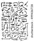 hand drawn black arrows... | Shutterstock .eps vector #499436728