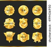 gold badge isolated vector... | Shutterstock .eps vector #499436950