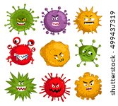 Cartoon Virus Character Vector...