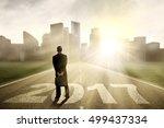 image of a male entrepreneur... | Shutterstock . vector #499437334