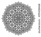 flower mandalas. vintage... | Shutterstock .eps vector #499438468