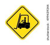 forklift truck sign.   Shutterstock . vector #499439344