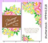 vintage delicate invitation... | Shutterstock .eps vector #499441318