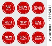 sale discount sticker set.... | Shutterstock .eps vector #499442854