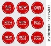 sale discount sticker set.... | Shutterstock .eps vector #499442854
