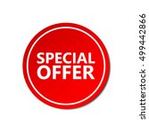 special offer sticker.... | Shutterstock .eps vector #499442866
