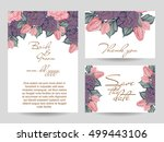 invitation with floral... | Shutterstock . vector #499443106
