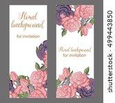 romantic invitation. wedding ... | Shutterstock . vector #499443850