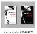makeup artist business card.... | Shutterstock .eps vector #499443970