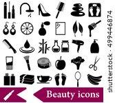 beauty theme big set of various ... | Shutterstock .eps vector #499446874
