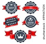 high quality badges and labels... | Shutterstock .eps vector #499447654
