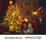 happy holiday  a beautiful... | Shutterstock . vector #499453780