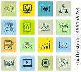 set of 16 universal editable... | Shutterstock .eps vector #499456234