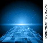 digital technology background.... | Shutterstock .eps vector #499459093