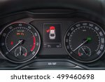 the instrument panel in the car | Shutterstock . vector #499460698